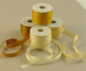 7 & 13 mm silk ribbon