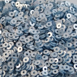 Paillette 2 mm bleu gris