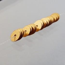 Paillette 5 mm or cuivré mat sur fil