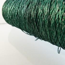 """Fil à broder """"mouliné métal"""" vert et argent"""