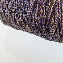 Assemblage de fils métallisés or marine et violet