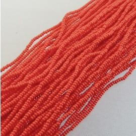 Rocaille 2 mm rouge vif sur fil