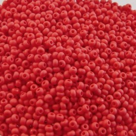Rocaille 2 mm rouge mate