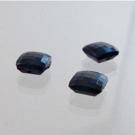 Cabochon ancien carré 8 x 8 mm noir lopho