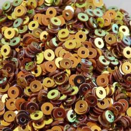 Paillette 3 mm miel irisé lustré