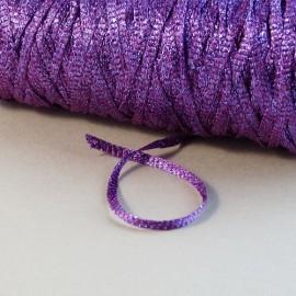 Ruban viscose violet lamé violet 3 mm