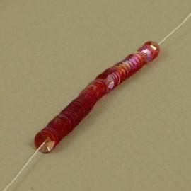 Cuvette 5 mm rouge rosé irisé sur fil