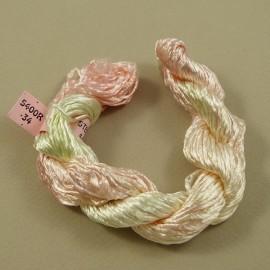 Rayonne 2 mm changeante ivoire et rose