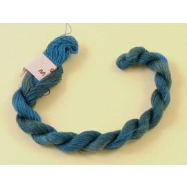 Soie très fine bleu cobalt changeant