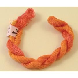 Soie très fine orange clair changeant