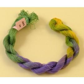Soie très fine du vert au violet