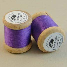 Soie perlée violet Au ver à Soie