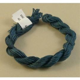 coton mouliné bleu cobalt changeant