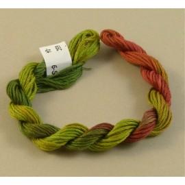 coton mouliné du rouge au kaki
