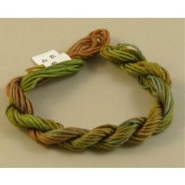 coton mouliné du brun au kaki