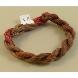 coton mouliné du brun au rouge