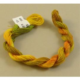 coton mouliné jaune orange vert
