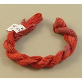 coton mouliné rouge rosé changeant