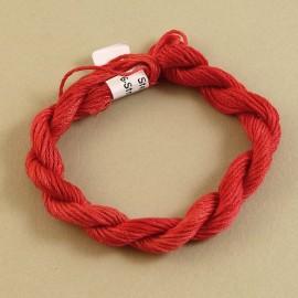 coton mouliné rouge changeant