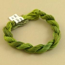 coton mouliné vert mousse changeant
