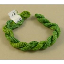 coton mouliné vert tendre changeant