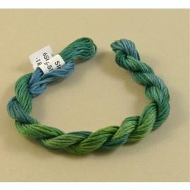 coton mouliné du vert au bleu