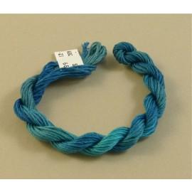 coton mouliné bleu turquoise changeant