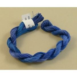 coton mouliné bleu changeant