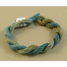 coton mouliné du bleu au beige