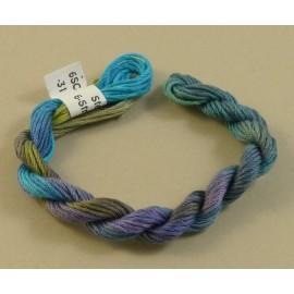 coton mouliné bleu vert violet