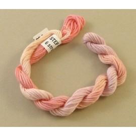 coton mouliné rose pâle changeant