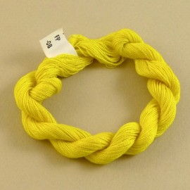 Coton perlé jaune