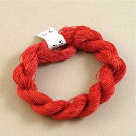 Coton perlé rouge changeant