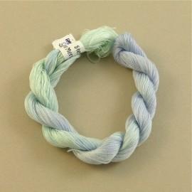 Coton perlé gris bleu changeant
