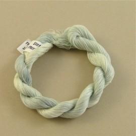 Coton perlé gris perle