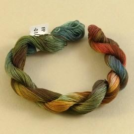Coton perlé changeant, du vert à l'orange
