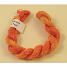 Coton perlé orange changeant