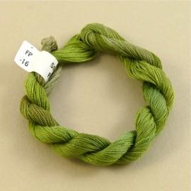 Coton perlé thé vert changeant