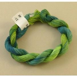 Coton perlé changeant vert tendre