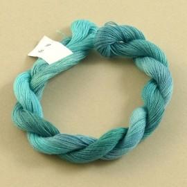 Coton perlé aquamarine changeant
