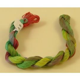 Coton perlé changeant du vert au rouge