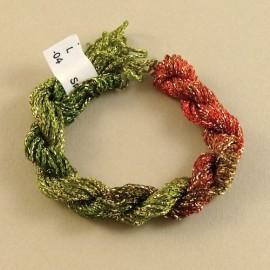 Chainette viscose Lurex du rouge au vert