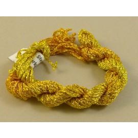 Chainette viscose Lurex jaune changeant