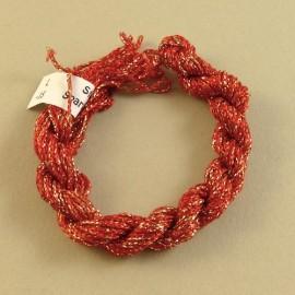 Chainette viscose Lurex rouge