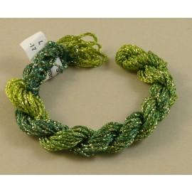 Chainette viscose Lurex vert changeant