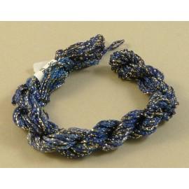Chainette viscose Lurex bleu changeant