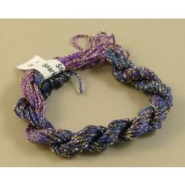 Chainette viscose Lurex violet changeant