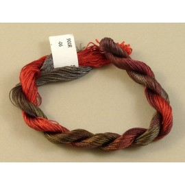 Rayonne perlée fine du brun au rouge