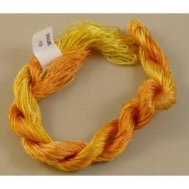 Rayonne perlée fine jaune orangé changeant