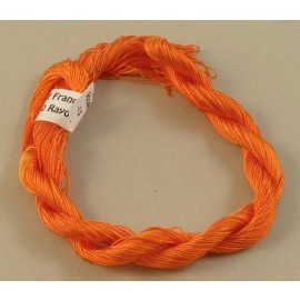 Rayonne perlée fine orange changeant